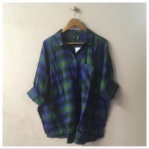 ‼️SOLD‼️BDG Brendan Drapey Flannel Button Down Top